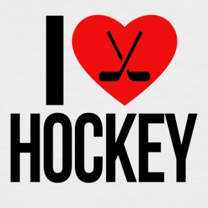 I LOVE HOCKEY - Männer Baseball-T-Shirt