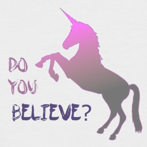 Do you believe in unicorn? - Männer Baseball-T-Shirt