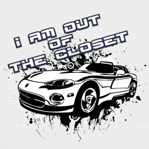 I am out of the closet with my cabriolet - Men's Baseball T-Shirt