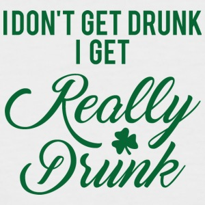 Ireland / St. Patricks Day: I Do not Get Drunk. jeg - Kortermet baseball skjorte for menn
