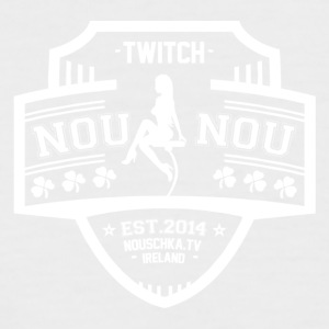 Nouschkasplay Laglogo Twitch White_01 - Kortermet baseball skjorte for menn