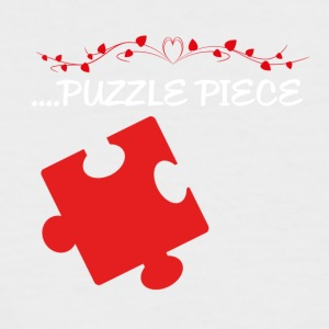 Missing puzzle part 2 white - Men's Baseball T-Shirt