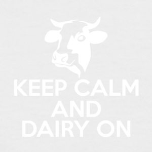 Cow / Farm: Keep Calm And Dairy On - Men's Baseball T-Shirt