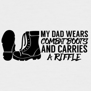 Military / Soldiers: My Dad Wears Combat Boots And - Men's Baseball T-Shirt