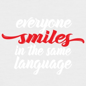 Everyone smiles - Männer Baseball-T-Shirt