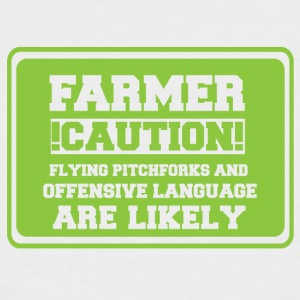 Agriculteur / PRODUCTEUR / Farmer! Attention! volant - T-shirt baseball manches courtes Homme