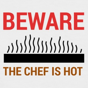 Koch / Chefkoch: Beware - The Chef Is Hot. - Männer Baseball-T-Shirt