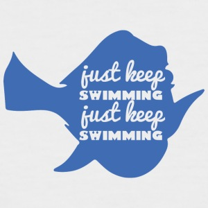 Swimming / Swimmer: Just Keep Swimming - Men's Baseball T-Shirt