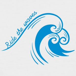 Surfer / Surfing: Ride the waves - Men's Baseball T-Shirt