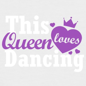 This queen loves dancing - Men's Baseball T-Shirt