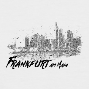 Frankfurt am Main - City sketch skyline - Men's Baseball T-Shirt
