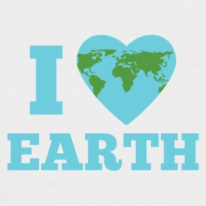 Earth Day / Tag der Erde: I Love Earth - Männer Baseball-T-Shirt