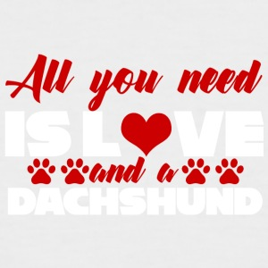 Dackel / Dachshund: All You Need Is Love And A - Männer Baseball-T-Shirt