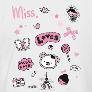 Miss Bagdes rose Fille Princesse - T-shirt baseball manches courtes Homme