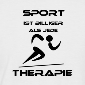 Sport is cheaper than any therapy - Men's Baseball T-Shirt