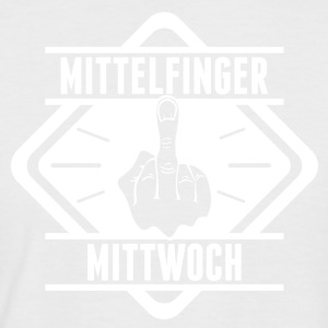 Middle finger Wednesday - Men's Baseball T-Shirt
