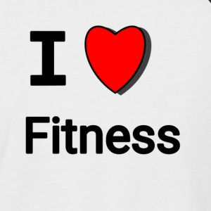 I love fitness, I ❤ Fitness - T-shirt baseball manches courtes Homme