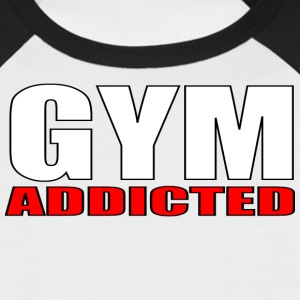 GYM Addicted - Kortermet baseball skjorte for menn