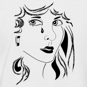 Woman sad - Männer Baseball-T-Shirt