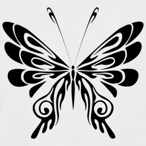 Black Tribal Tattoo Butterfly / butterfly - Men's Baseball T-Shirt