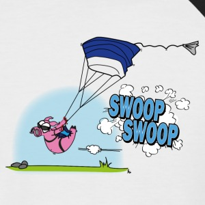 Swooping Poops - Men's Baseball T-Shirt
