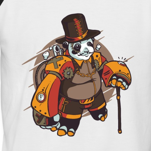 Cooles Steam Punk Panda Design - Männer Baseball-T-Shirt
