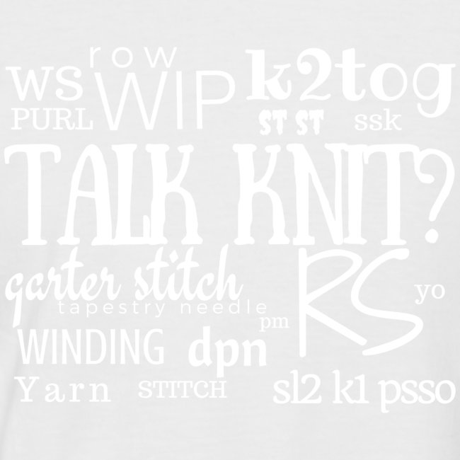 Talk Knit ?, white