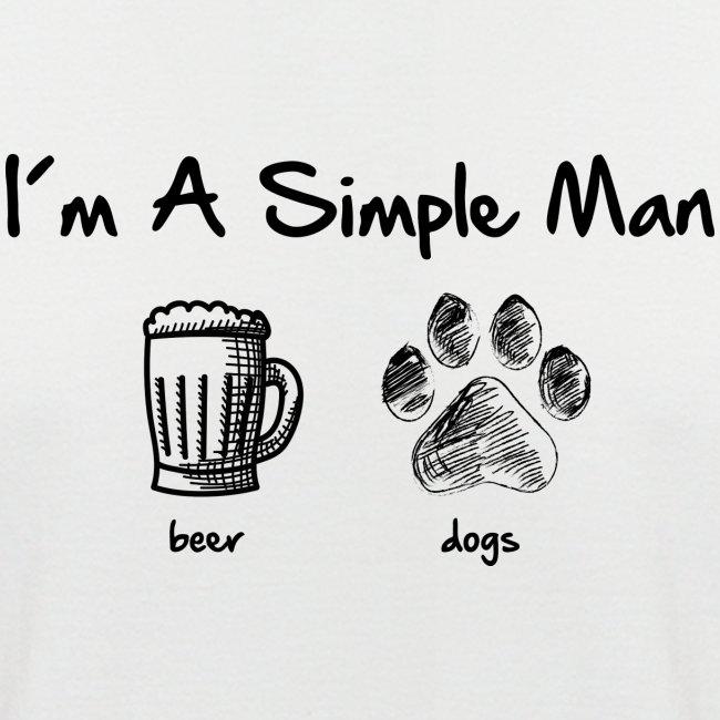 Vorschau: simple man dogs beer - Männer Baseball-T-Shirt
