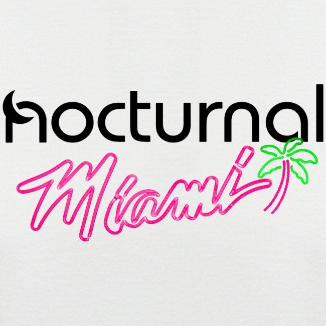 Nocturnal Miami Palm Tree black