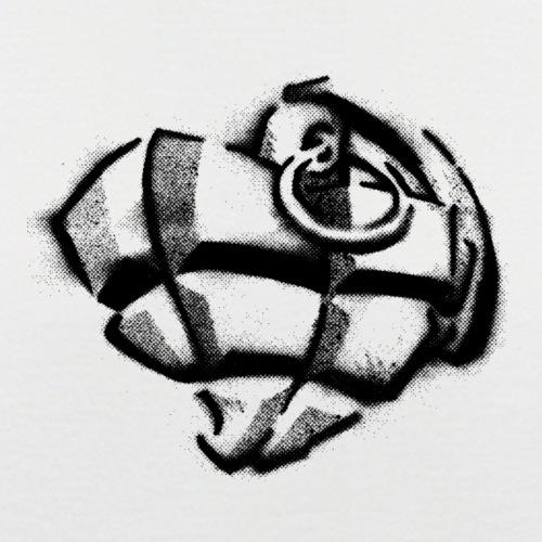 Herzgranate Schwarz - Männer Baseball-T-Shirt
