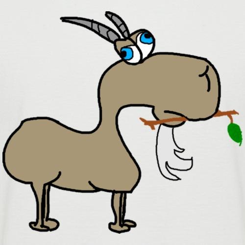 goat 3x png - Kortærmet herre-baseballshirt