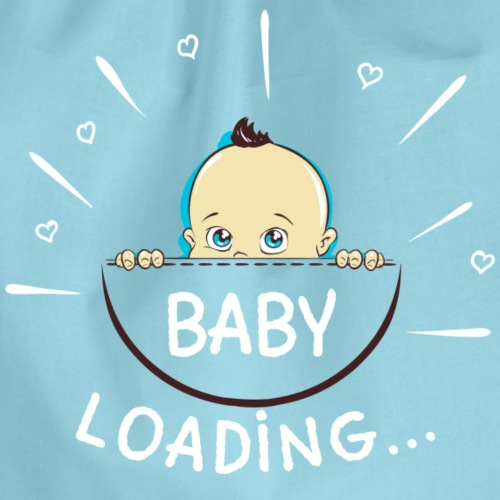 baby loading - Drawstring Bag