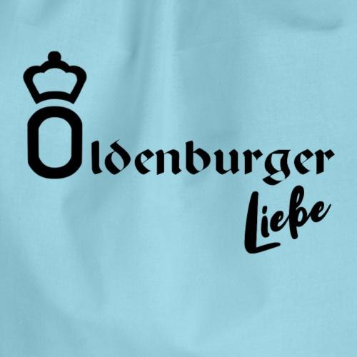 Oldenburger Liebe in schwarz - Turnbeutel