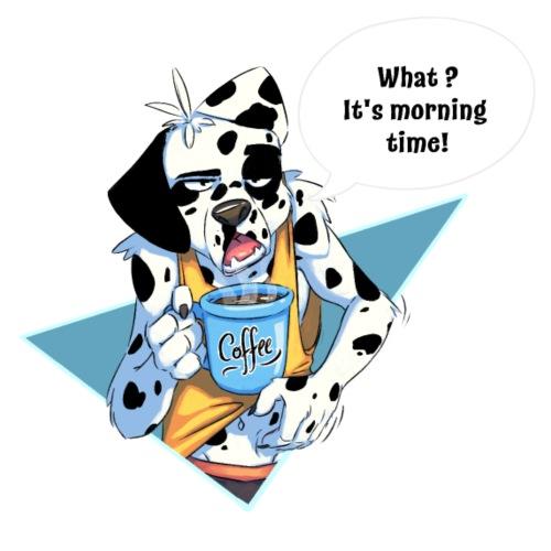 Dalmatien avec son café du matin