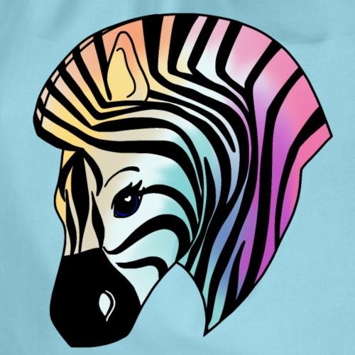Niedliches buntes Zebra - Turnbeutel