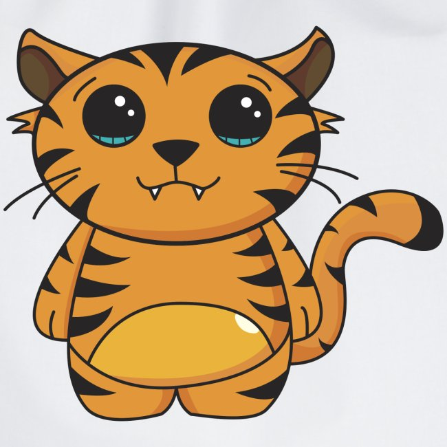 Oval kawaii tiger