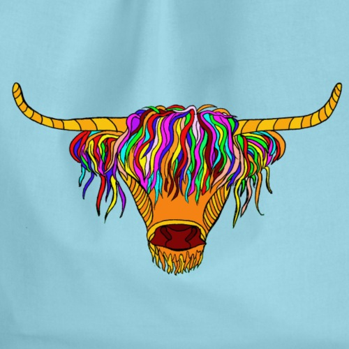 Highland Cow / Taurus - Drawstring Bag