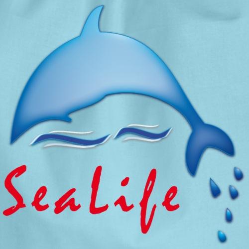Delfin als glücklicher Meeresbewohner - Turnbeutel