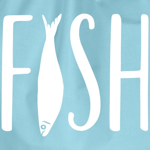 Fish Lettering - Turnbeutel