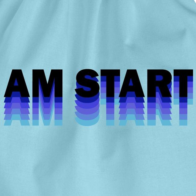 am Start - blau schwarz faded