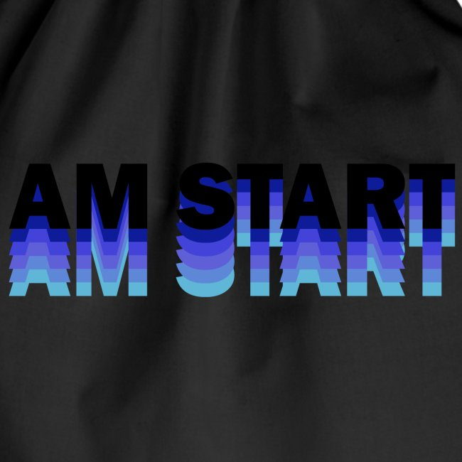 am Start - blau schwarz faded