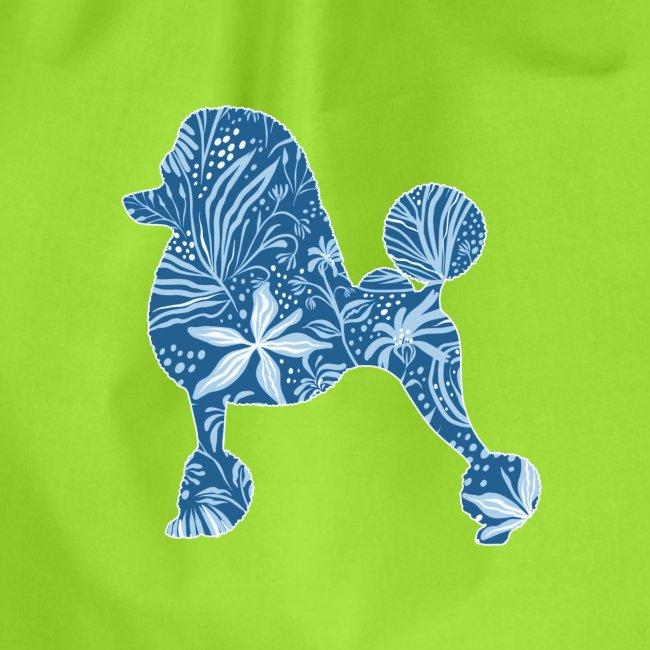 Flower Poodle Blue I