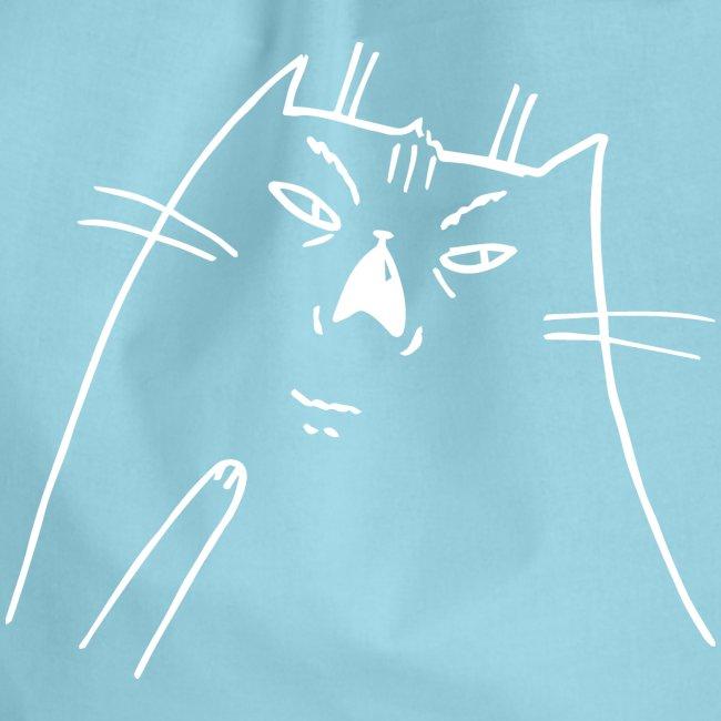 Shocked Cat weiß