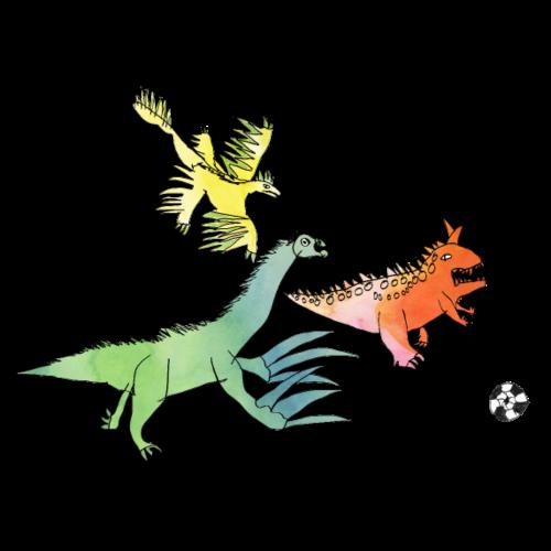 Fussball-Dino: Rudelbildung - Turnbeutel