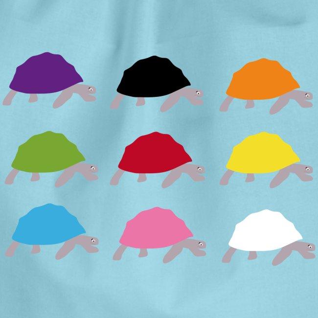 Farben Für Kinder.Bunte Schildkröten In Lebendigen Farben Für Kinder Turnbeutel