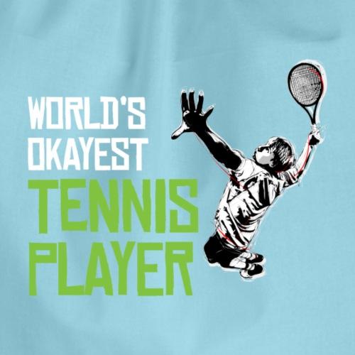Tennis Spieler - Turnbeutel
