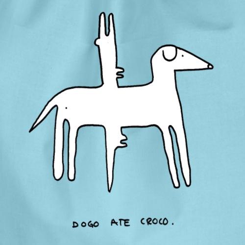 Hund und Krokodil - Turnbeutel