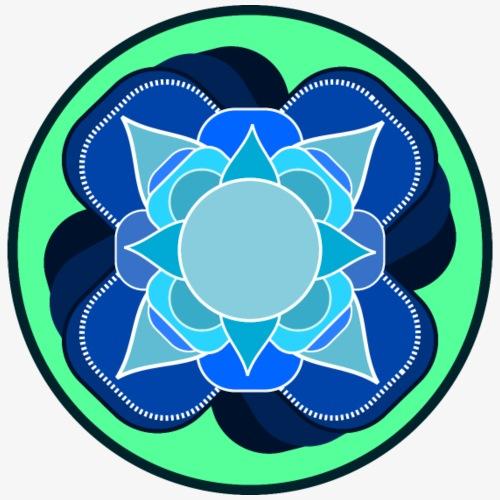 Mandala blau / türkisblau - Turnbeutel