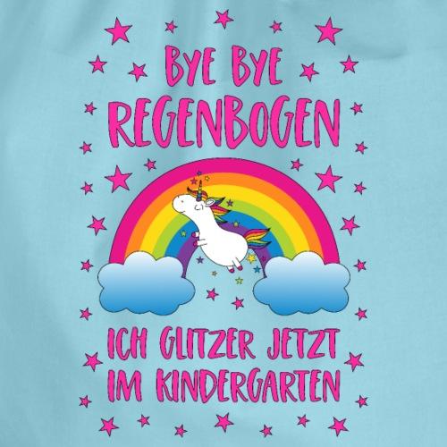 Einhorn Bye Bye Regenbogen Kindergarten Glitzer pi