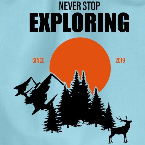 NEVER STOP EXPLORING - Sacca sportiva